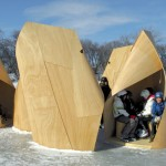 Patkau Architects: Cochilii din lemn pe gheata