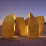 Patkau Architects: Cochilii din lemn pe gheata. Refugii inovatoare pentru patinatori, în Canada