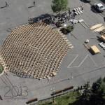 Zilele Arhitecturii 2013: Un pavilion cu o structura de lemn inovatoare la Cluj