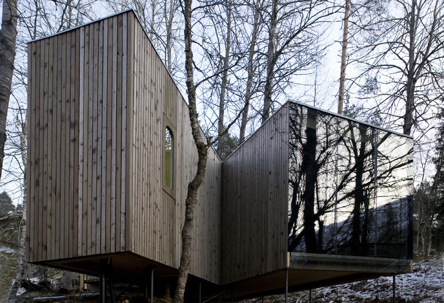Jensen & Skodvin Architects -Cutiile dintre mesteceni – Juvet Landscape Hotel