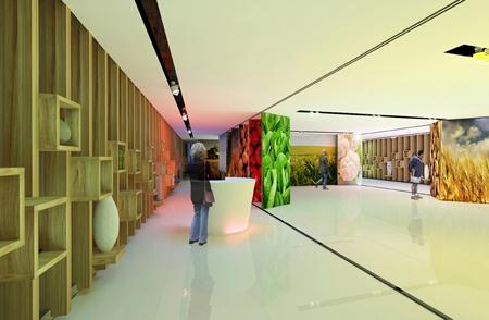Expo Milano 2015 - pavilionul Romaniei - proiectul castigator - interior