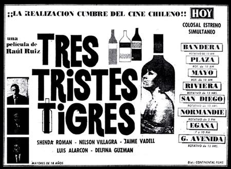 04.e. 24 cadre pe secunda - posterul filmului Tres Tristes Tigres