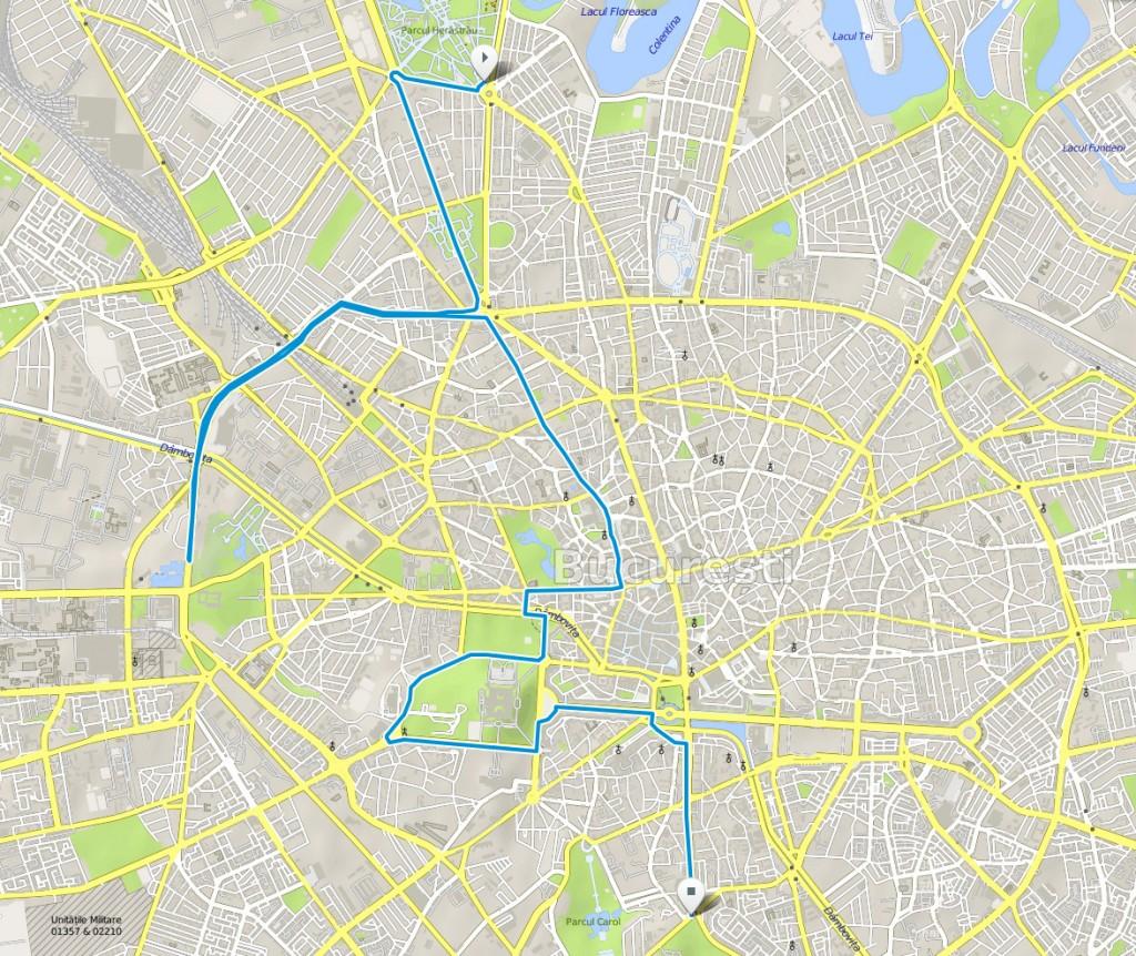 harta traseu marsul biciclistilor 2015