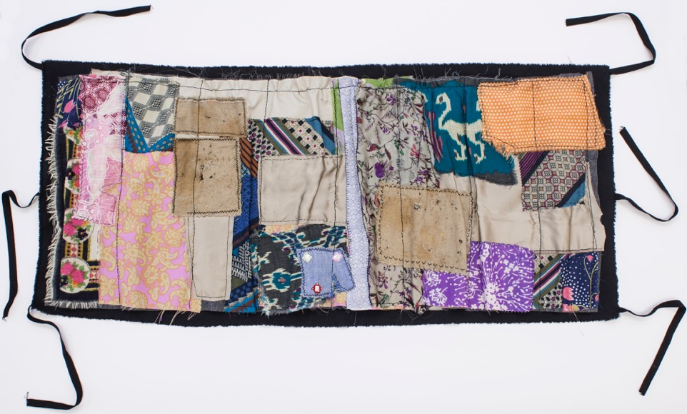IuliaToma, Untitled, 2014, textile collage, 50x110 cm courtesy of  the artist and Ivan Gallery, Bucharest