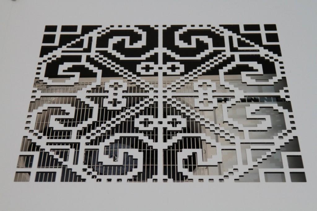 Synthesis Architecture -vila pe str. Vaporul lui Assan -panou ornamental aer conditionat
