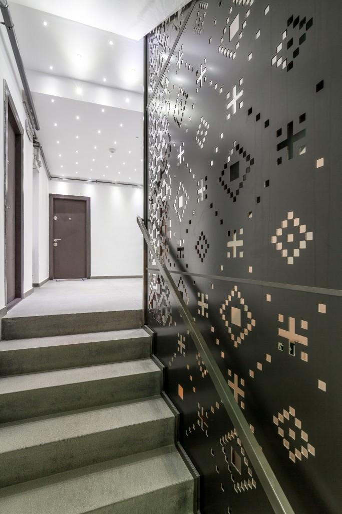 Synthesis Architecture -vila pe str. Vaporul lui Assan -panou ornamental aer conditionat -hol