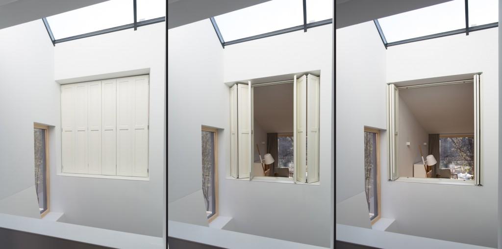 Casa J - obloane interioare - dormitor