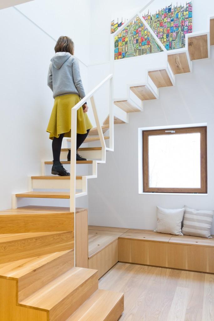 Casa k - noua scara si luminatorul