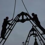 Acoperirea provizorie a bisericii din Crivina de sus