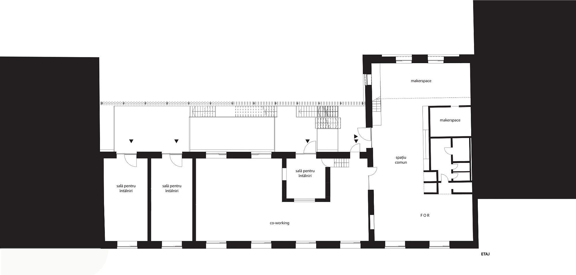 Plan etaj- FABER Centru cultural și productiv independent Timisoara
