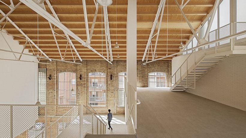 Fabrica cu locuințe sociale. Reabilitarea unei fabrici de textile și crearea a 46 de unități de locuit - Barcelona