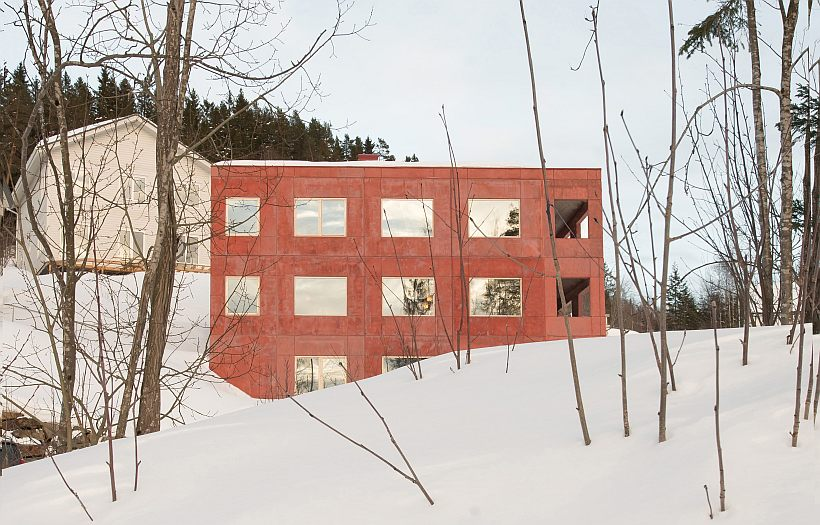 House in Red Concrete_ Lillehammer
