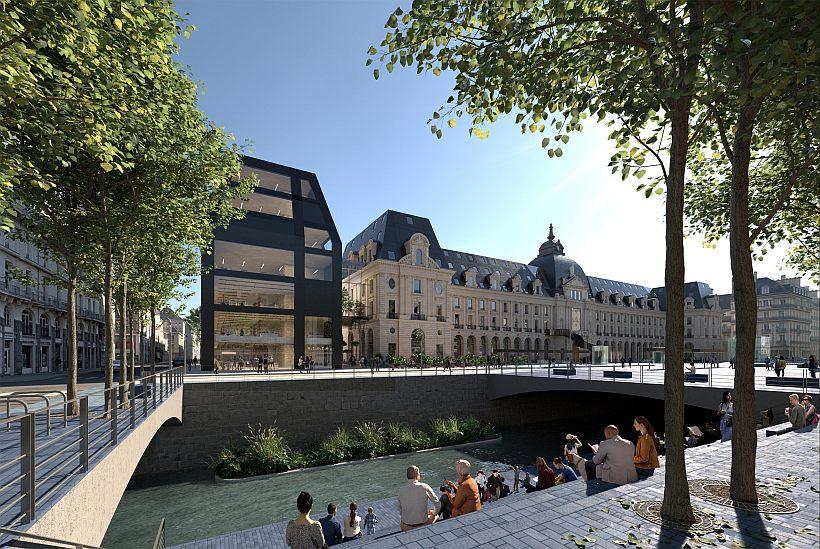 Palais du Commerce Rennes River
