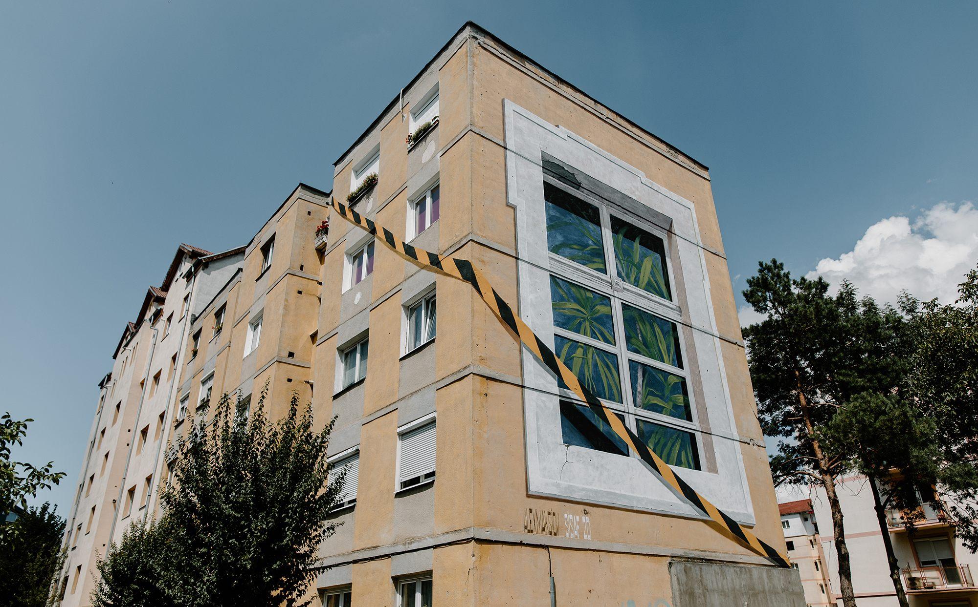 """ink"""". Alex Maksiov - Sibiu Street Art Festival"""